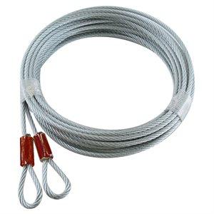 1 / 8 X 144 7X7 GAC Garage Door Plain Loop Extension Lift Cables - Red