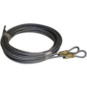 5 / 32 X 156 7X19 GAC Garage Door Plain Loop Extension Lift Cables - Brown