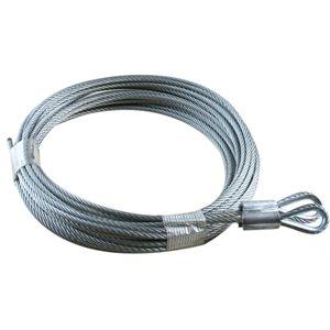 """1 / 8 X 216"""" 7X19 GAC Garage Door Thimble Loop Extension Lift Cables"""