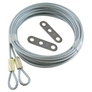 1 / 8 X 120 7X7 Extension Spring Retension Cables with Adjusting Clips
