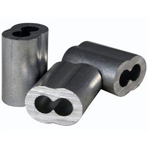 1 / 8 X 100 Pcs Aluminum Sleeves