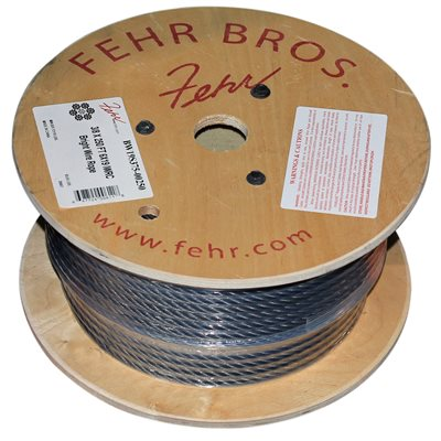 3 / 8 X 250 FT 6X19 IWRC Bright Wire Rope