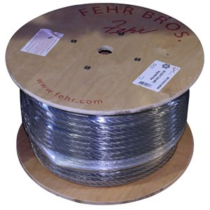 5 / 8 X 500 FT 6X25 IWRC Bright Wire Rope