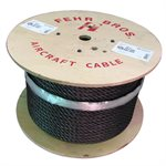 1 / 2 X 1000 FT 6X25 Fiber Core Bright Wire Rope