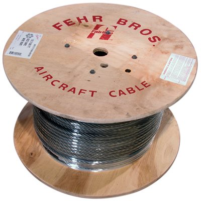 7 / 16 X 500 FT 6X19 Fiber Core Bright Wire Rope