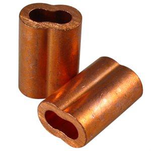 3 / 16 X 100 Pcs Copper Sleeves