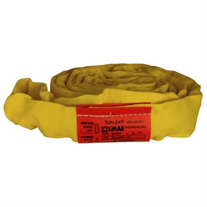 EN90 X 20 FT Yellow Tuflex Polyester Roundsling