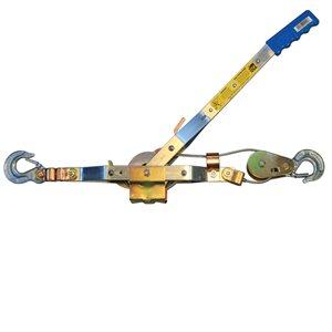 "2 Ton Come-Along, 12' Cable, 6' lift, 30:1 Leverage, 3 / 16"" Cable Diameter"
