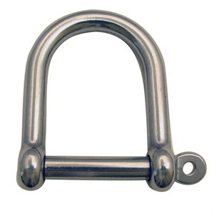 "3 / 8 Type 316 Stainless Steel Wide ""D"" Shackle"