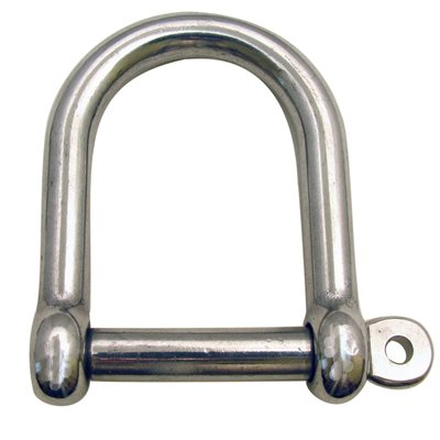 "1 / 2 Type 316 Stainless Steel Wide ""D"" Shackle"