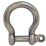 3 / 8 Type 316 Stainless Steel Screw Pin Bow Shackle, (10mm) WLL 2,365 Lbs