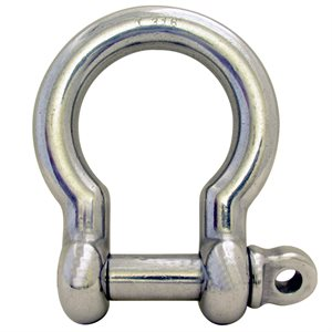 "1-1 / 8"" Type 316 Stainless Steel Screw Pin Anchor Shackle, (28mm) WLL 12,000 Lbs"