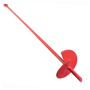"""48"""" Auger Earth Anchor w / 6"""" Helix, 5 / 8"""" Rod, Painted"""